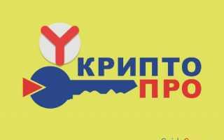 Как установить и почему не запускается расширение КриптоПро browser plugin в Yandex browser