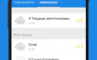 Gismeteo 1.1.11 для Андроид